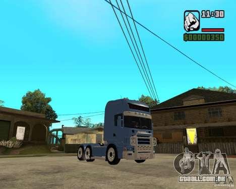 Scania 164L 580 V8 Black Beaunty para GTA San Andreas vista traseira