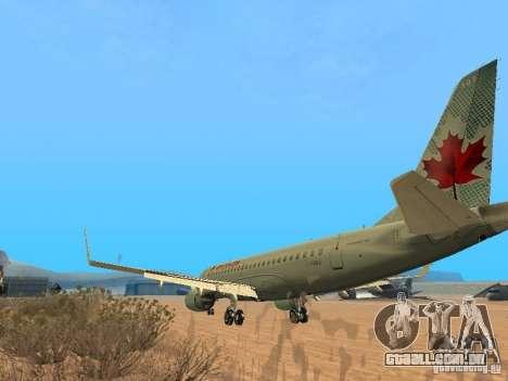 Embraer ERJ 190 Air Canada para GTA San Andreas vista direita