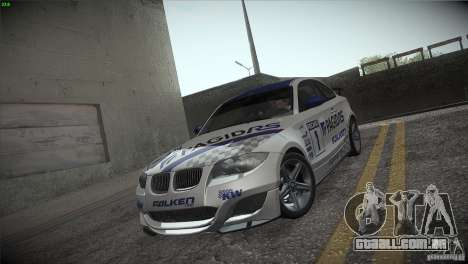 BMW 135i Coupe Road Edition para vista lateral GTA San Andreas