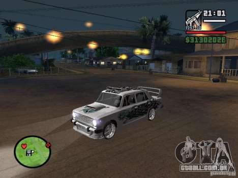 2101 Vaz carro tuning para GTA San Andreas traseira esquerda vista