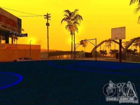 Quadra de basquete para GTA San Andreas quinto tela