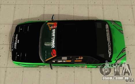 BMW E34 V8 Wide Body para GTA San Andreas vista direita