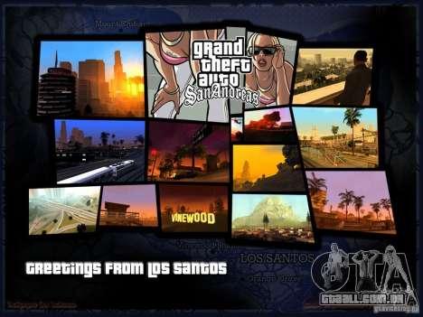 Tela de boot linda para GTA San Andreas segunda tela