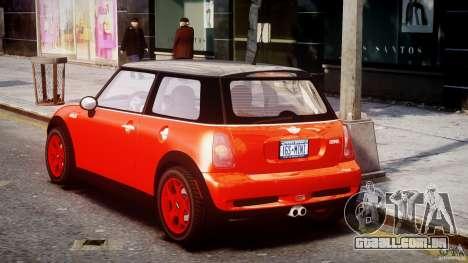 Mini Cooper S 2003 v1.2 para GTA 4 traseira esquerda vista