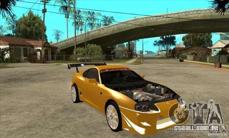 Toyota Supra D1GP para GTA San Andreas vista traseira