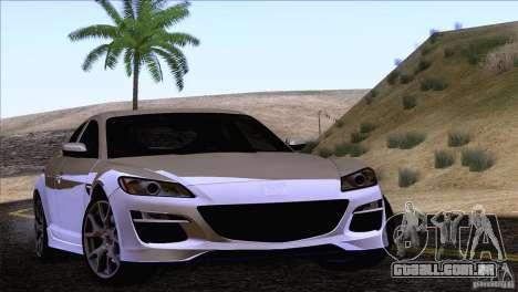 Mazda RX8 R3 2011 para GTA San Andreas vista traseira