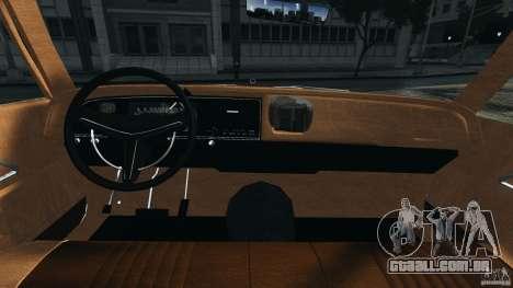 Dodge Monaco 1974 Taxi v1.0 para GTA 4 vista de volta
