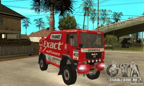 MAN TGA Rally OFFROAD para GTA San Andreas vista interior