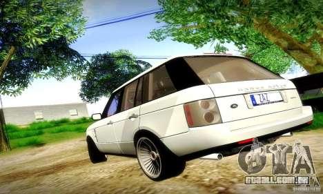 Range Rover Supercharged para vista lateral GTA San Andreas
