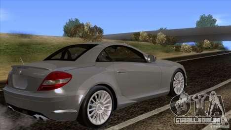 Mercedes-Benz SLK 55 AMG para GTA San Andreas esquerda vista