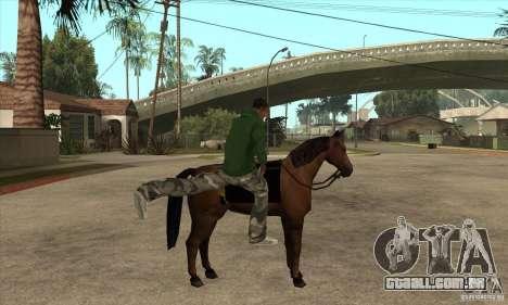 Cavalo para GTA San Andreas terceira tela