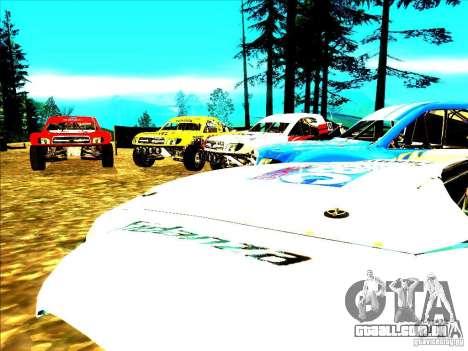 Toyota Tundra Rally para GTA San Andreas interior