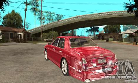 Bentley Arnage T para GTA San Andreas vista direita