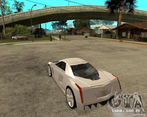 Cadillac Cien para GTA San Andreas esquerda vista