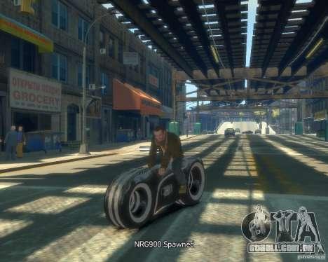 Motocicleta do trono (neon cinza) para GTA 4 vista de volta
