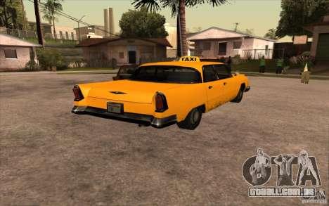 Oceanic Cab para GTA San Andreas traseira esquerda vista