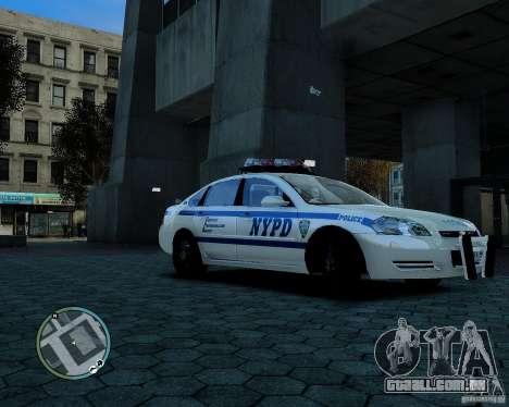 NYPD Chevrolet Impala 2006 [ELS] para GTA 4 esquerda vista