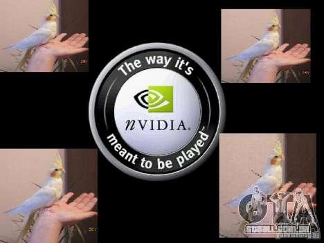 Beta de papagaios papagaio de tela de inicializa para GTA San Andreas twelth tela