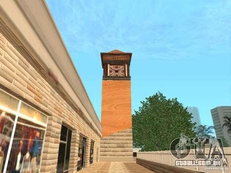 Novo centro comercial de texturas para GTA San Andreas por diante tela