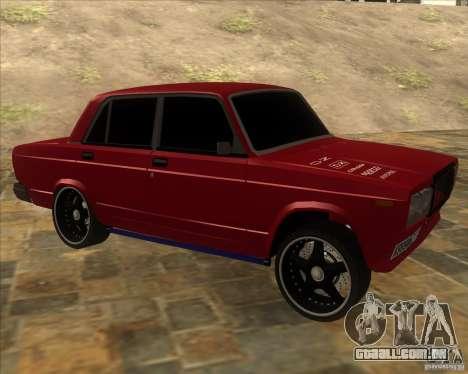 VAZ-2107 difícil afinação para GTA San Andreas
