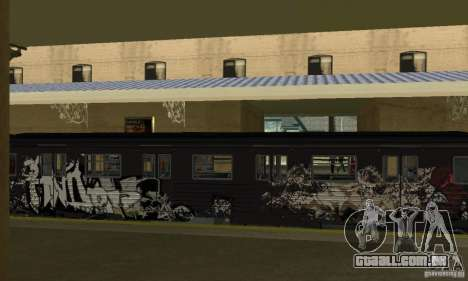 GTA IV Enterable Train para GTA San Andreas vista interior
