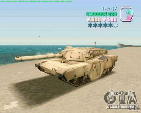 M 1 A2 Abrams para GTA San Andreas esquerda vista