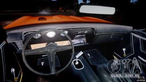 Pontiac GTO Judge para GTA 4 vista de volta