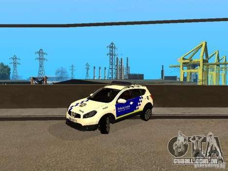 Nissan Qashqai Espaqna Police para GTA San Andreas esquerda vista