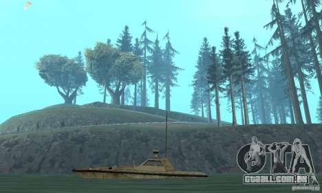 GTA III Ghost para GTA San Andreas traseira esquerda vista
