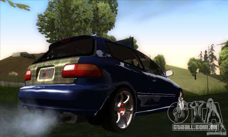 Honda Civic EG5 para GTA San Andreas vista direita