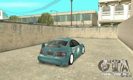 Toyota Celica GT-Four v1.1  1994 para GTA San Andreas vista inferior
