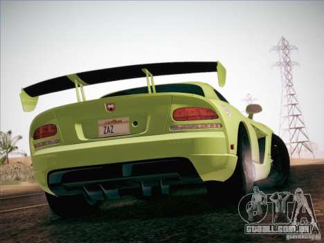 Dodge Viper SRT-10 ACR para GTA San Andreas vista inferior