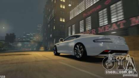 Aston Martin Virage 2012 v1.0 para GTA 4 traseira esquerda vista