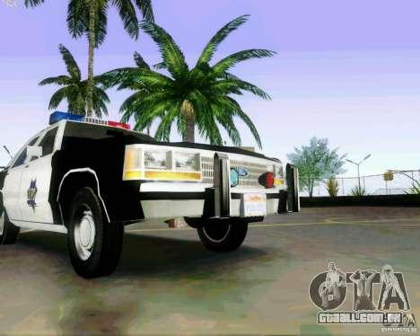 Ford Crown Victoria LTD 1991 SFPD para GTA San Andreas vista interior