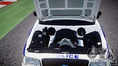 Ford Crown Victoria NYPD [ELS] para GTA 4 vista de volta