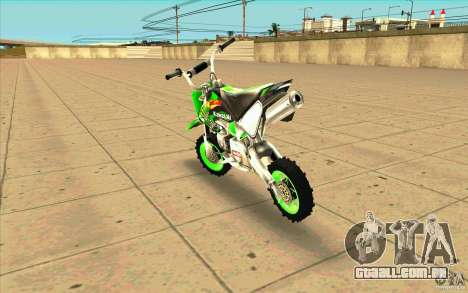 Kawasaki PitBike para GTA San Andreas traseira esquerda vista