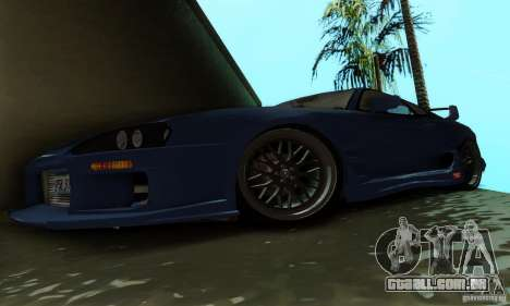 Toyota Supra TRD para GTA San Andreas vista interior