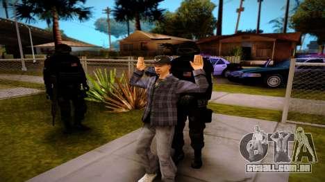 S.W.A.T. para GTA San Andreas por diante tela