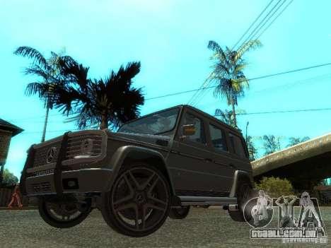 Mercedes-Benz G500 para GTA San Andreas esquerda vista