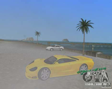 Saleen S7 para GTA Vice City vista direita
