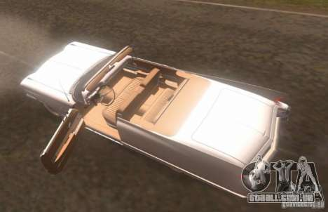 Cadillac Series 62 1960 para GTA San Andreas vista traseira