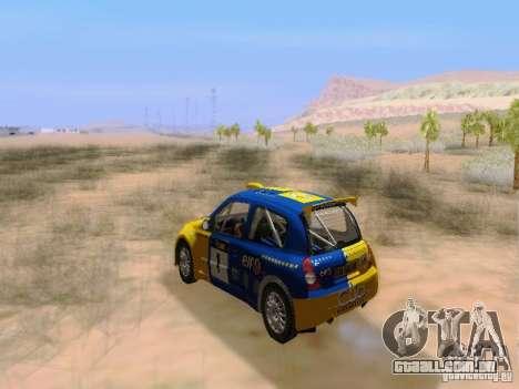 Renault Clio Super 1600 para GTA San Andreas vista interior