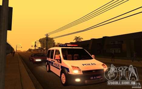Ford Transit Connect Turkish Police para GTA San Andreas esquerda vista