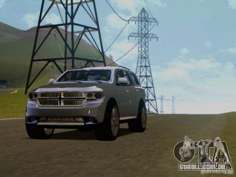 Dodge Durango 2012 para GTA San Andreas vista traseira