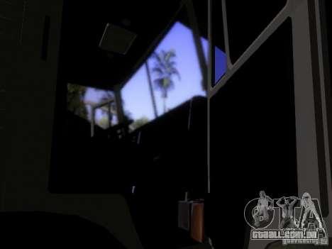 Tanque de leite 53212 KAMAZ para GTA San Andreas vista interior