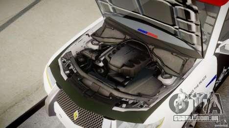 Carbon Motors E7 Concept Interceptor Sherif ELS para GTA 4 vista superior