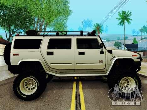 Hummer H2 Monster 4x4 para GTA San Andreas traseira esquerda vista