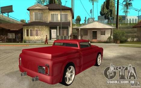 Slamvan Custom para GTA San Andreas vista direita