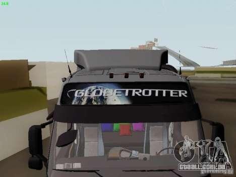 Volvo FH13 Globetrotter para GTA San Andreas vista superior