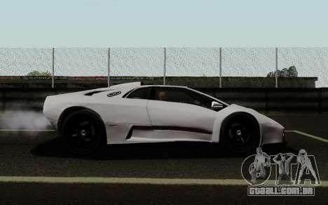 Lamborghini Diablo GTR TT Black Revel para GTA San Andreas esquerda vista